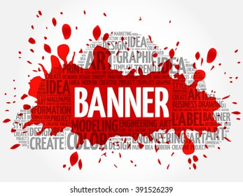 BANNER word cloud, creative business concept background - Shutterstock ID 391526239