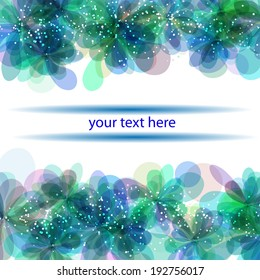 banner for your text with gentle flowers