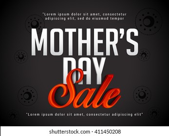 Banner,flyer or poster of Mother's Day,sale shopping offer background.