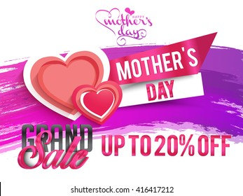 Banner,flyer or poster of Mother's Day,sale shopping background.