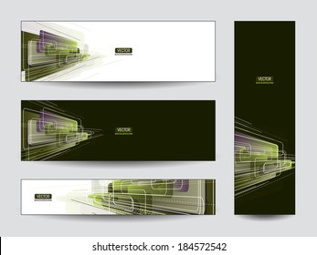 Banners. Abstract Vector Designs. Eps10.