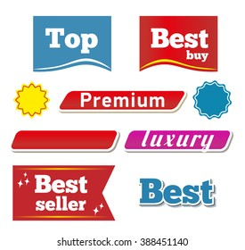Banners and botton. Vector set For your projects. buttons vector web.
