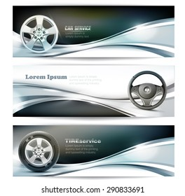 Banners for car service