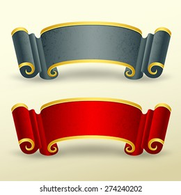 Banners collections chinese style design, vector illustration
