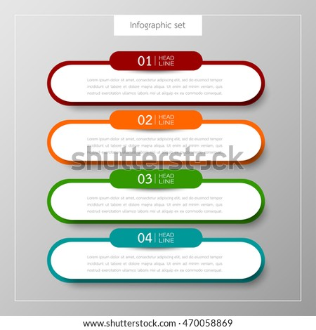 banners infographics template set colorful tabs stock vector