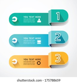 banners number shadow Template concept vector illustration