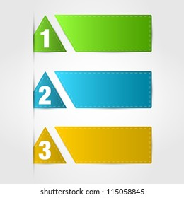 banners numbered. banners numbered concept