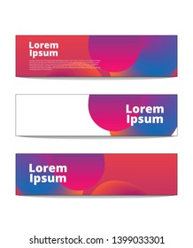 banners for presentations abtract background