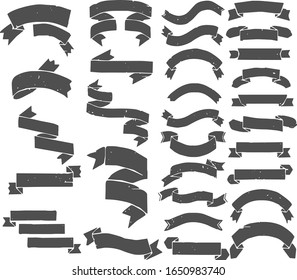 Banners And Ribbons Vector Set For Web \ Internet \ Print