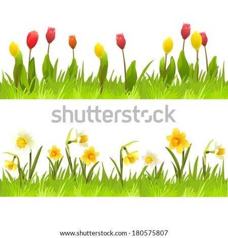 Banners spring flowers vector illustation stock vector royalty free banners of spring flowers vector illustation mightylinksfo
