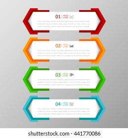 Banners template colorful tabs design Illustration vector business card and text box  infographics for web presentation layout