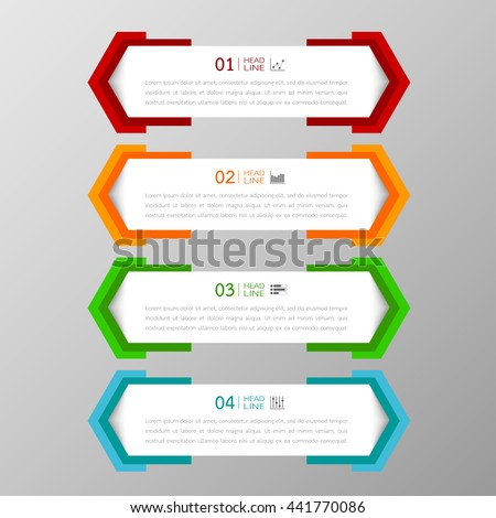 banners template colorful tabs design illustration stock vector