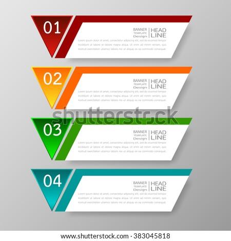 banners template design illustration vector business のベクター画像