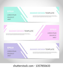 Banners vector design or headers web template with abstract geometric trendy background. Vector design for your banners, headers, footers, flyers, cards etc.