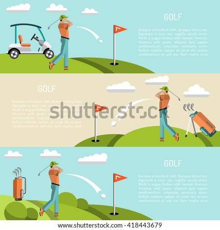 7ef5b164c Banners Vector Image Sports Equipment Golf Vector de stock (libre de ...