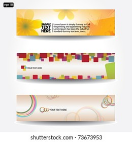 Banners for web - vector