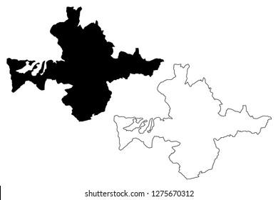 Banska Bystrica City (Slovakia, Slovak Republic city) map vector illustration, scribble sketch City of Banska Bystrica map