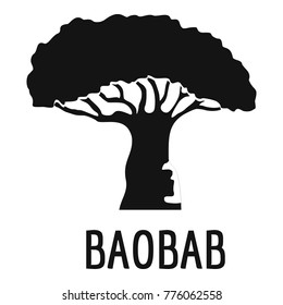 Baobab tree icon. Simple illustration of baobab tree vector icon for web