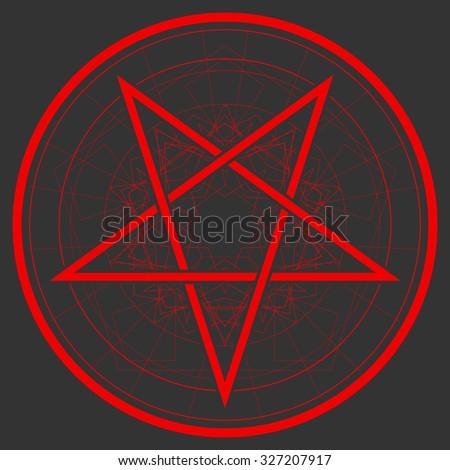 Baphomet Star Reversed Pentagram Satanic Sign Stockvector