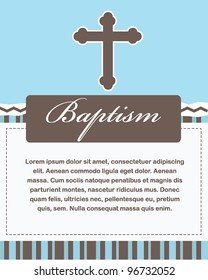 Baptism Card Design with Cross