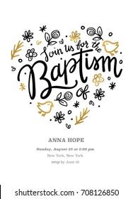 Baptism Invitation Template Card