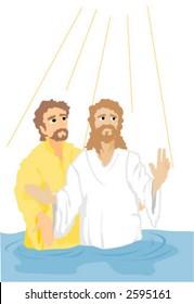 Baptism of Jesus Christ - Vector