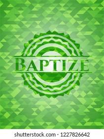 Baptize green mosaic emblem