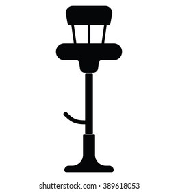 Bar chair icon on the white background