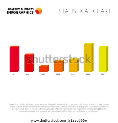 Bar Chart Template | Bar Chart 3 D Slide Template Stock Vektorgrafik Lizenzfrei