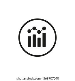 Bar chart Analytics vector icon .