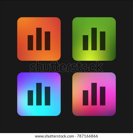 Bar Chart Four Color Gradient App Stock Vector Royalty Free