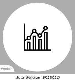 Bar chart icon sign vector,Symbol, logo illustration for web and mobile