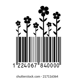 Bar code with flowers