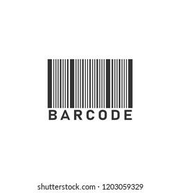 Bar code. Icon Flat