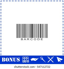 Bar code icon flat. Simple vector symbol and bonus icon