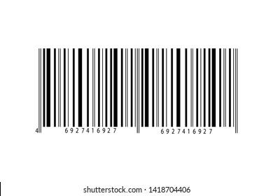 Bar code icon isolated on white background.