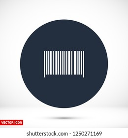 Bar code icon, stock vector illustration flat design style