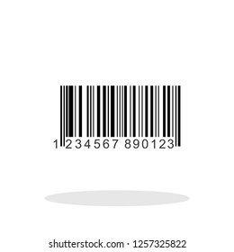 Bar code icon in trendy flat style. Vector Illustration EPS 10.