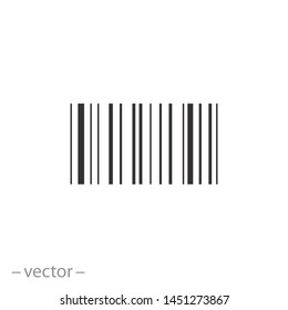 bar code icon, upc scan, thin line symbols for web and mobile phone on white background - editable stroke vector illustration eps10