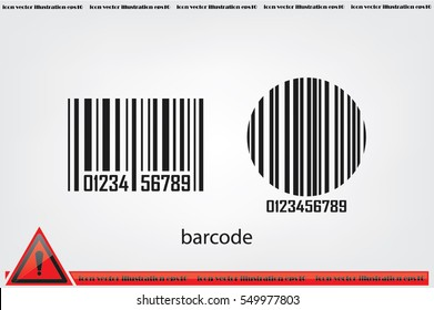 bar code, icon vector illustration eps10