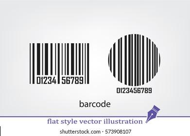 bar code, icon vector illustration.
