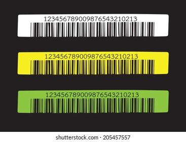 Bar code.  illustration