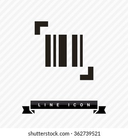 bar code isolated minimal single flat icon. Shopping line vector icon for websites and mobile minimalistic flat design.