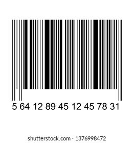 Bar code isolated on transparent background. Vector icon.
