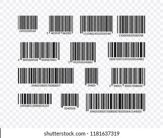 Bar Code Set Vector. Universal Product Scan bar code. Bar Code collection. Bar Code icon. Creative vector.