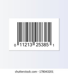 Bar code tag illustration isolated