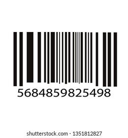 Bar code vector illustration isolated