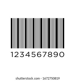 Bar code vector illustration isolated on white background.