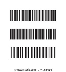 Bar code vector illustration isolated on white background