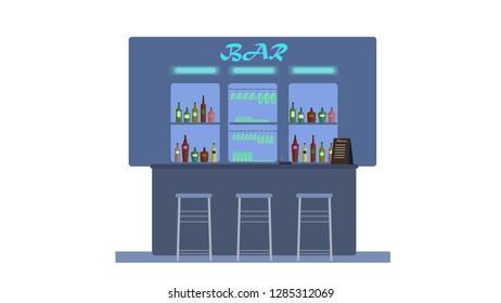 A bar full of drinks.